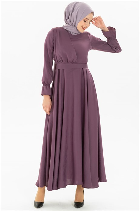 Flared Lilac Modest Dress 3M5214