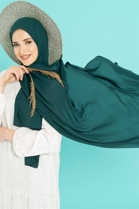 Queen Silk Emerald Green Shawl