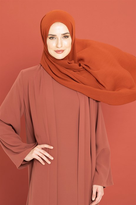 Jazz Brick Color Shawl