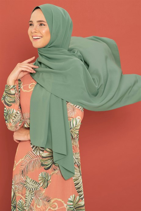 Medina Silk Grass Green Shawl