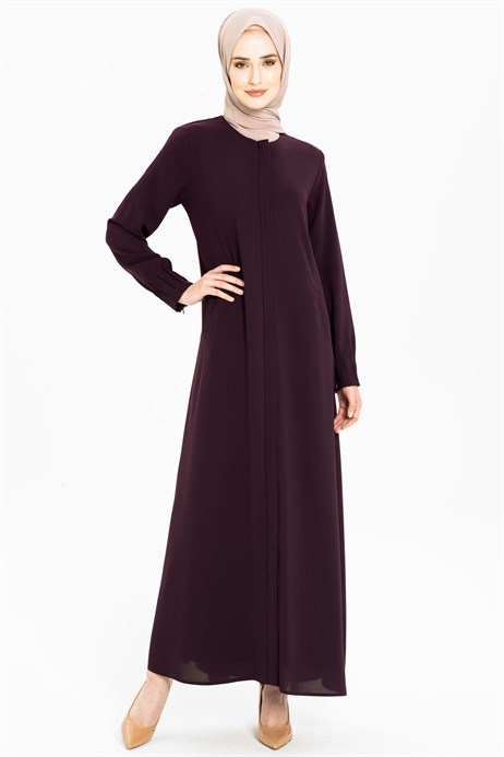 Minimally Detailed Damson Abaya 3M3211