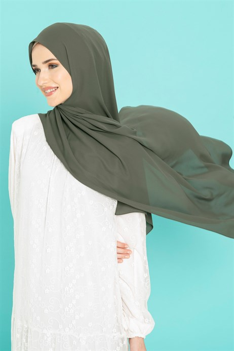 Queen Silk Military Green Shawl