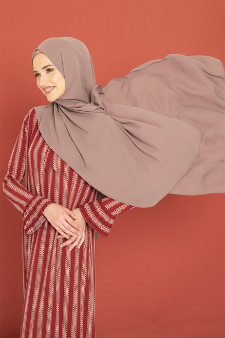 Queen Silk Milk Brown Shawl