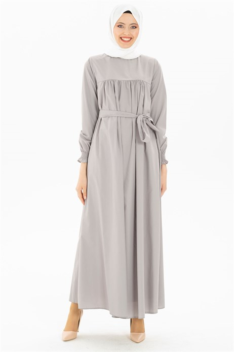 Beyza-Corso Grey Modest Dress 3M629