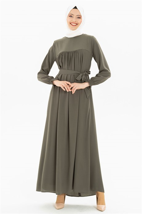 Corso Khaki Modest Dress 3M629