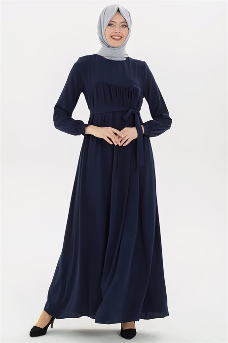 Corso Navy Blue Modest Dress 3M629