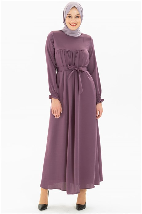Corso Satin Lilac Modest Dress 3M629